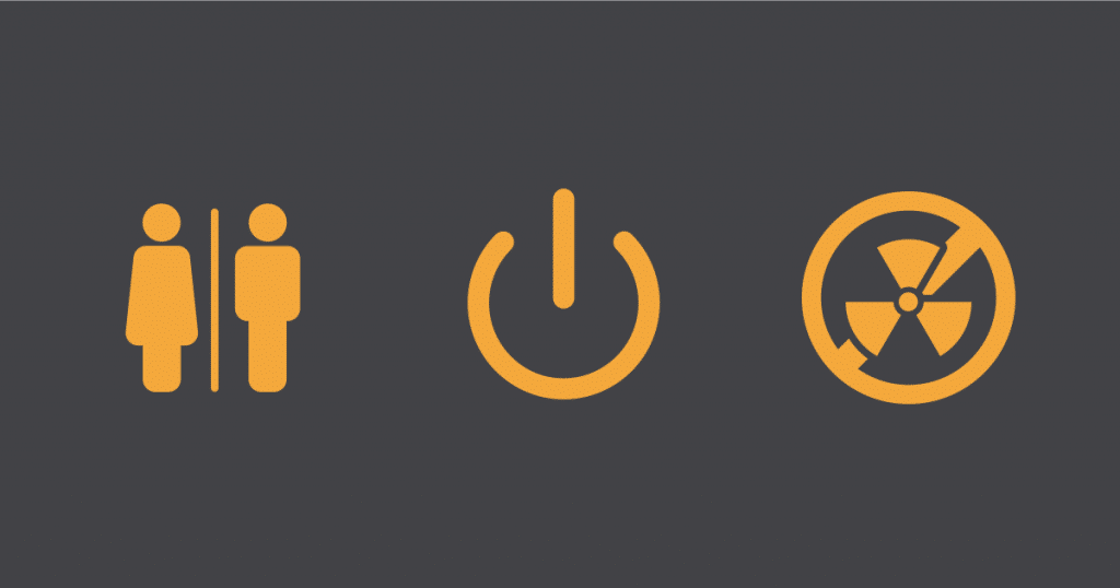 Icons in presentation design and meanings